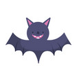 cute bat icon trick or treat happy halloween vector image vector image