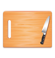 cutting board and knife isolated vector image vector image