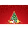 Decorated Christmas Tree vector image vector image