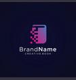 digital book tech logo design vector image vector image