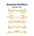 Dividers set Nautical ropes Decorative vector image vector image