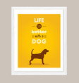 dog poster vector image