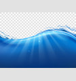 drinking water wave splash vector image vector image