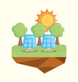 ecology concept design vector image vector image