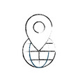 figure global earth planet with location symbol vector image vector image