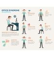 flat for office syndrome vector image