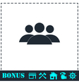 Friends icon flat vector image vector image