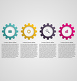 Gears infographic design concept vector image vector image