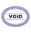 grunge blue void word oval rubber seal stamp on vector image vector image