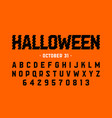 halloween style font design halloween theme vector image vector image