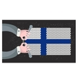 Hand made flag of Finland vector image vector image