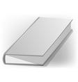 hardback book white vector image vector image