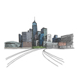 Hong Kong city hand drawn vector image vector image