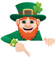 leprechaun sign vector image vector image