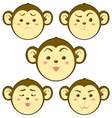 Monkey emotion vector image vector image