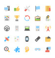 multimedia flat colored icons 6 vector image vector image