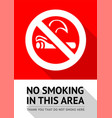 no smoker poster vector image