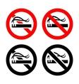 No smoking signs set vector image vector image