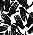 Open hands searching each other to shake seamless vector image