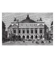 opera house in paris france vintage engraving vector image vector image