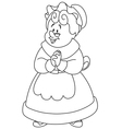 outlined mrs claus vector image vector image