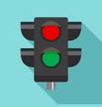pedestrian semaphore icon flat style vector image vector image