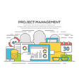 project management business concept vector image vector image