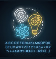 quaternary neon light concept icon knowledge vector image vector image