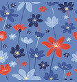 seamless floral ornament pattern backgrounds vector image vector image
