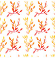 Seamless pattern watercolor vector image vector image