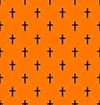 Seamless Texture with Crosses of Graves vector image