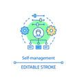 self management concept icon business development vector image vector image