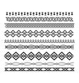 Set of borders and lines horizontal geometric vector image