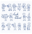 Set of carton doodle kids vector image vector image