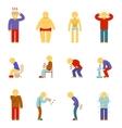 sick people icons symptoms disease pictograms vector image vector image