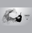 silhouette of a dencing girl woman ballerina vector image vector image