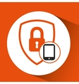 smartphone padlock lock security vector image