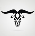 Taurus Sign Tribal vector image vector image