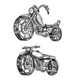 vintage motorcycles collection of bicycles vector image vector image