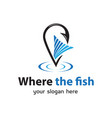 where the fish logo vector image vector image