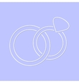 White simple wedding rings icon vector image vector image