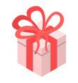 xmas gift box icon isometric style vector image vector image