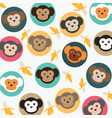 cute monkey with bananas vector image