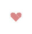 Heart logo medical red emblem design element vector image