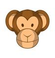 Monkey head icon cartoon style vector image
