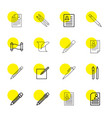 16 write icons vector image vector image