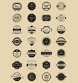 28 labels and logotypes set of vintage retro vector image