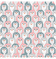 adorable penguins seamless pattern vector image vector image