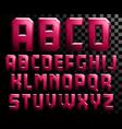 alphabet metal letters vector image