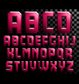 alphabet of metal letters vector image vector image